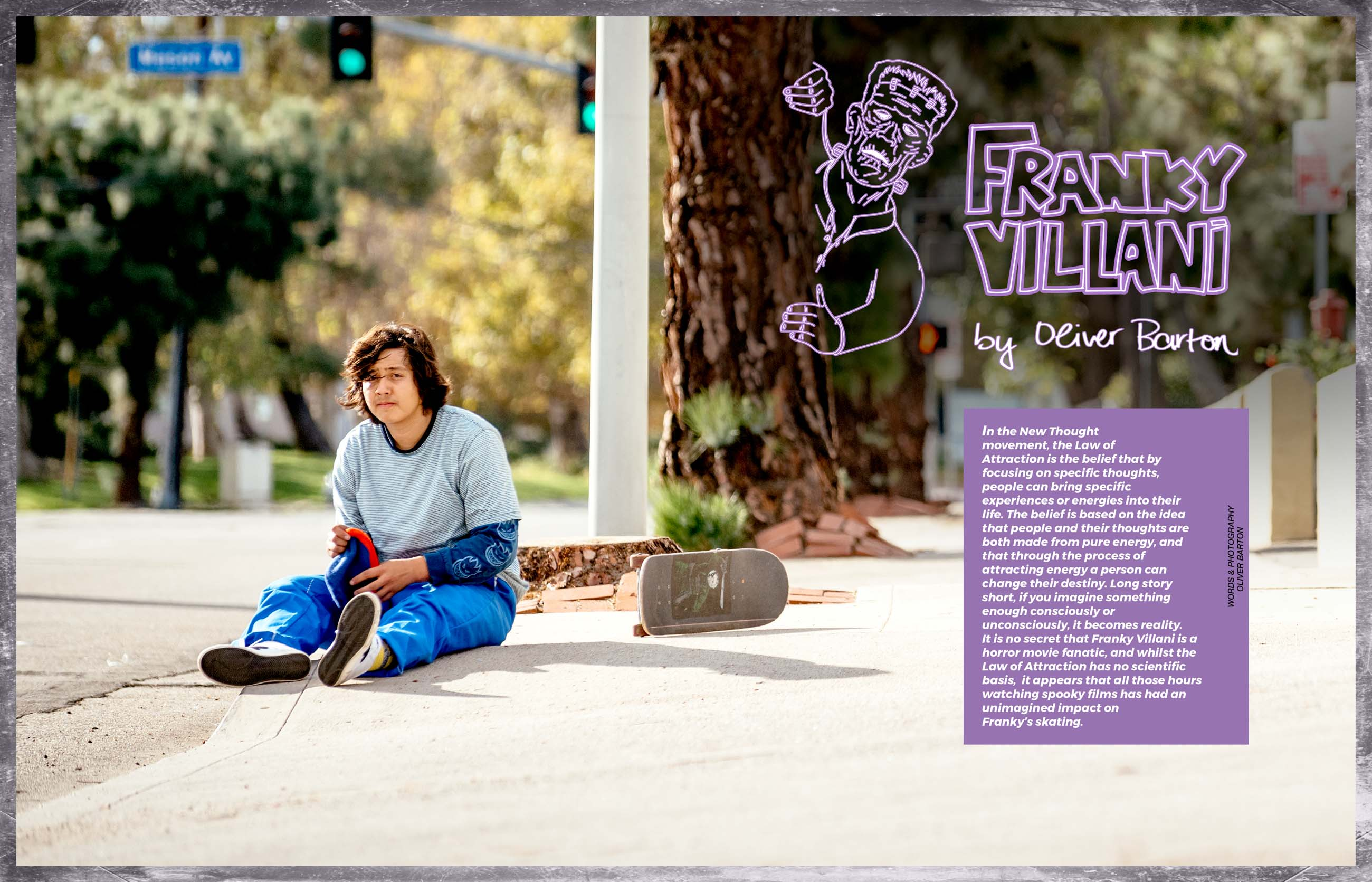 FRANKY VILLANI BY OLIVER BARTON – Pocket Skateboard Magazine
